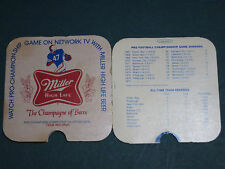 MILLER HIGH LIFE ~ PRO FOOTBALL CHAMPIONSHIP GAME RECORD FINDER ~ 1976