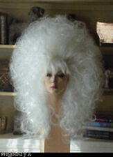 SIN CITY BIG WIGS DRAG QUEEN HAIR SKY HIGH TEASED & TEASED WAVY CURLS SEXY WHITE