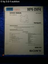 Sony Service Manual MPK DVF4 Marine Pack (#5949)