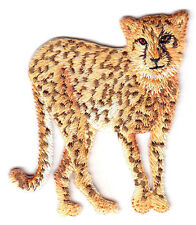CHEETAH - JUNGLE - ZOO ANIMAL - WILD ANIMALS - IRON ON EMBROIDERED PATCH