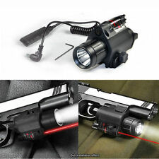 2in1 Tactical CREE LED Flashlight LIGHT 200LM + Red Laser Sight For pistol gun