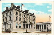 1920's Citizens and Peoples National Bank in Pensacola, FL Florida PC