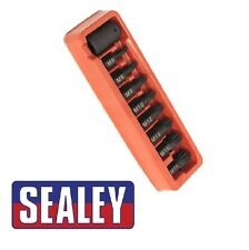 "Sealey impatto spline Bit & Holder Set 9PZ 1/2 ""SQ Drive AK5611"