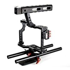 DSLR Rod Rig Camera Video Cage Kit & Handle Grip for Sony A7 A7r A7s II A6300