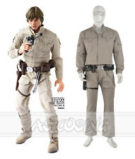 Star Wars Luke Skywalker Jedi Cosplay Costume Full Set Halloween Uniform Suit