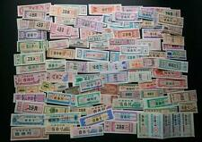 100 Pieces Different China Ration Cloth Coupons Bu Piao Rare for Collection