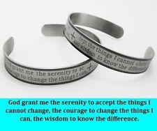 12pcs English Serenity prayer Stainless steel Bracelets Wholesale Mens Jewelry