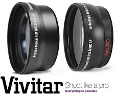 2-Pc HD Lens Telephoto & Wide Angle Lens Set For Panasonic Lumix DMC-G3K DMC-G3