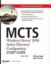 McTs Windows Server 2008 Active Directory Configuration Study Guide by James...