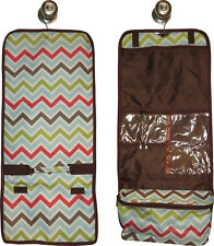 Hanging Travel Cosmetic Bag (multi-color chevron) great for travel or home!