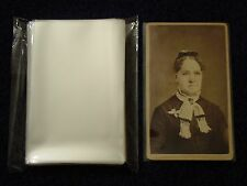 500 CDV Carte De Visite Photo SLEEVES Pack/Lot ARCHIVAL SAFE Quality 1.5mil Poly