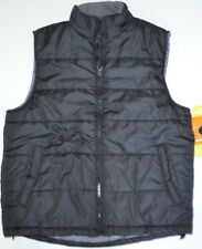 Mens ATHLETECH Black WATER RESISTANT Thick Puffer Windbreaker VEST Jacket Coat M