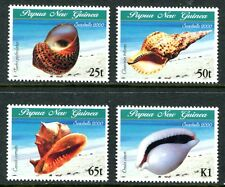 PAPUA NEW GUINEA 2000 SEA SHELLS SET OF 4 STAMPS MINT COMPLETE!