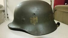 WWII German Nazi Steel Helmet with Incomplete Liner Shell Stamp Good Condition