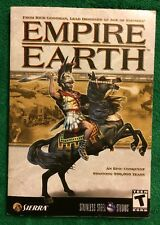 2002 Empire Earth Rick Goodman Paperback Book User Manual PC Games Instructions