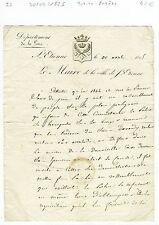 Dépt 42 - St Etienne - Rare Lettre Entête  du Maire de St Etienne du 30/04/1825