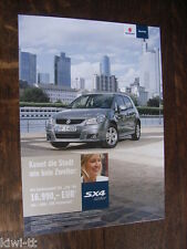 Suzuki SX4 City Sondermodell Prospekt / Brochure / Depliant, D, 4.2011