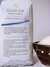 GJ's Pure Epsom Salt Fine Grain 3  kg ( 3 Packs of 1 kgs)Refill Pack
