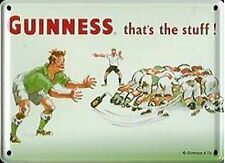 Guinness Rugby metal postcard / mini sign   (hi)