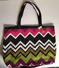 Missoni Shoulder Chevron Purse Tote Hand Bag  For Target Large NWT