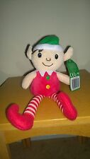 "11"" elf on the shelf noël soft from head to toe cadeau plush doll rouge/blanc"