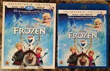 Disney Frozen Blu-ray + DVD, 2014, Collector's Edition, 2-Disc Set w/ Slipcover