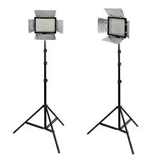 METTLE Studioset VL-2000,Presse-Interview-Set, 2x LED Videoleuchte 2x Stativ