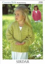 Country Style Cardigans Double Knitting Patterns Sirdar #4166 Girls 1yr-10yr