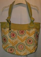 FOSSIL Purse Long Live Vintage 1954 Satchel Shoulder Bag w/ Key Multi-Color