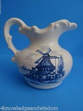 Blue White Vintage McCoy Ceramic Pitcher Windmill Collectible Art Pottery #AQ851
