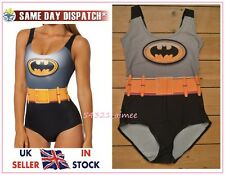 Batman Swimsuit Swimming Costume Bodysuit Body Milk Dress Black hero Halloween