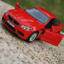 BMW M5 5 Inch Alloy Diecast Model Cars Toy Car Gifts Sound & Light Red Color