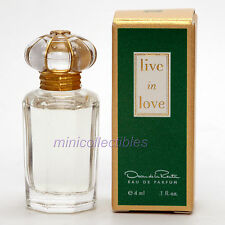 Oscar de la Renta LIVE IN LOVE- Eau de Parfum 4 ml - Miniature Collectible/Mini