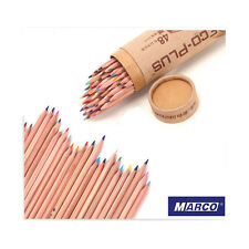 Hot MARCO 48 Colors Drawing Pencil Set Non-toxic Oil Base For Artist Sketch