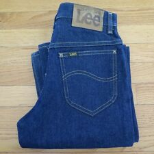 VINTAGE ORIGINAL LEE JEANS RIDER DEADSTOCK 1970's TALON ZIPPER W28 L34