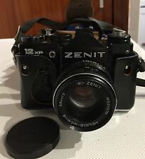 Mint **** Zenit 12XP SLR Camera 35mm Helios Lens And Leather Case