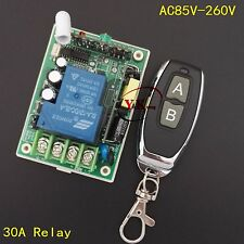 110V 120V 230V 240V 220V 30A Relay Remote Control Switch Lamp wireless Lighting