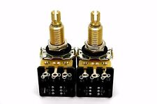2X CTS 500K A500K DPDT PUSH-PULL LONG SPLIT SHAFT BY MOJOTONE - 7% TOLERANCE!