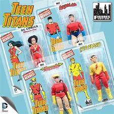 Teen Titans 7 Inch retro mego Action Figures Series 1 Set of 4 mosc ships free!