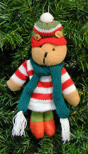 MULTI-COLR PLUSH CHIPMUNK IN WINTER CLOTHING CHRISTMAS TREE ORNAMENT STYLE 2