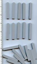 LEGO x 20 Light Bluish Gray Brick 1 x 1 x 5 NEW bulk lot