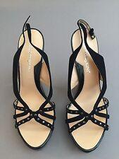 Carlo Pazolini Black Suade Leather Silver Shoes New W Box Size 8.5/39 Designer