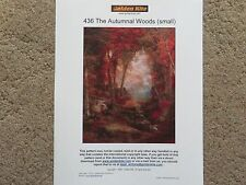 45% Off Golden Kite counted x-stitch chart - #436 The Autumnal Woods (small)