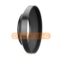 52mm metal wide angle screw in mount lens hood for Canon Nikon Pentax Sony