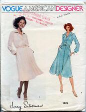 Older Vogue American Designer Dress Pattern - Designer Jerry Silverman - Size 10