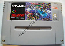 SNES-Turtles IV (4) - Turtles in Time-pal-solo módulo-usado