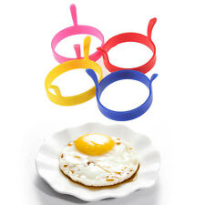 Silicone Egg Frying Rings fry Fried Poacher Mould Pancakes Poaching Baking Rings