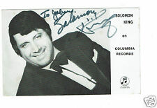 Solomon King Singer She wears my ring Hand Signed Vintage Columbia Photograph
