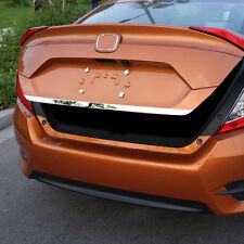 FIT FOR 2016 17 HONDA CIVIC CHROME REAR TRUNK TAILGATE BACK DOOR LID COVER TRIM
