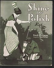 Shine or Polish Rag 1914 Large Format Sheet Music